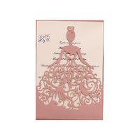 Custom High Quality Cheap Price Luxury Laser Cut Unique Wedding Cards Invitations