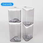 Food [ Plastic Container 4 Containers ] Plastic Factory Plastic Container High Quality Transparent Plastic Food Seal Container Pot 4 Piece Set Food Storage Airtight Containers