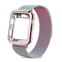 Чехол + ремешок для часов Apple watch 4 5 3 iwatch band, 42 мм 38 мм, Миланская петля, браслет из нержавеющей стали для часов 5 4 3 2 1(Китай)