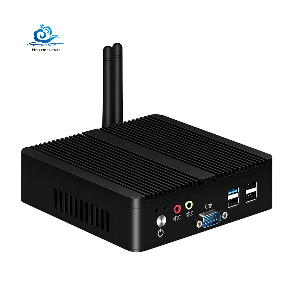 HLY Intel Celeron J1900 Industrial Mini PC <strong>Computer</strong> Quad Core Linux Pfsense 2 Gigabit Ethernet RS232 Micro computador