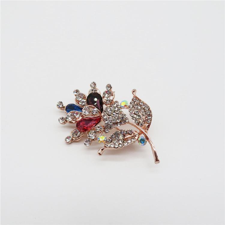 Nhà máy giá Shining quyến rũ phụ nữ an toàn flower pha lê pin pin