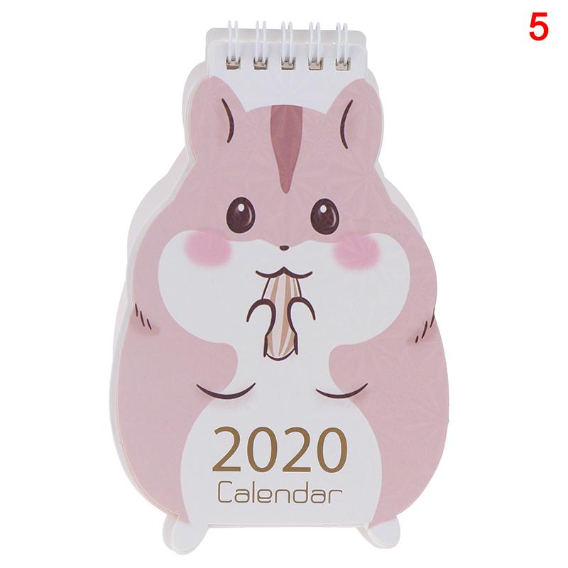 2020 мультяшный Настольный календарь в форме милой овцы, ежедневный ежедневник(Китай)