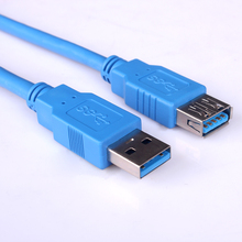 6FT USB3.0 AM OM AF EXTENTION KABEL BLAUW