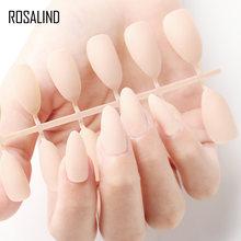 ROSALIND поддельные ногти матовые накладные ногти 24 шт Съемные советы для наращивания ногтей Маникюр Искусство нажмите на поддельные накладны...(Китай)