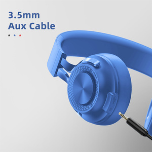 OEM Foldable Over-Ear headset Wired and Wireless phone headphones