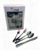 20pc black(Dinner knife/fork/spoon  Des spoon/salad fork)