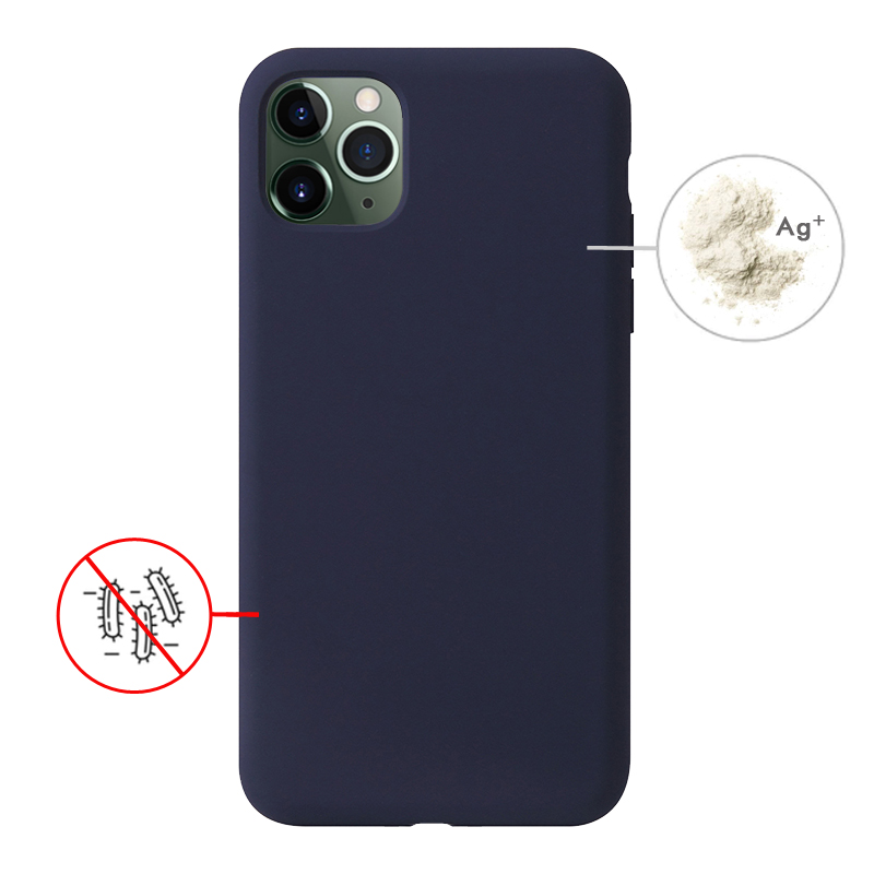 Cellphone Case for iPhone 11 pro <strong>max</strong>, Kill up Surface Germs Liquid Silicone Mobile Antibacterial Phone Case for iphone 11 case