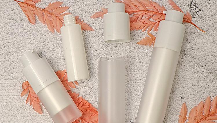 15 مللي 30 مللي 50 مللي مستحضرات التجميل الأبيض كريم pp البلاستيك الرش زجاجة مضخة