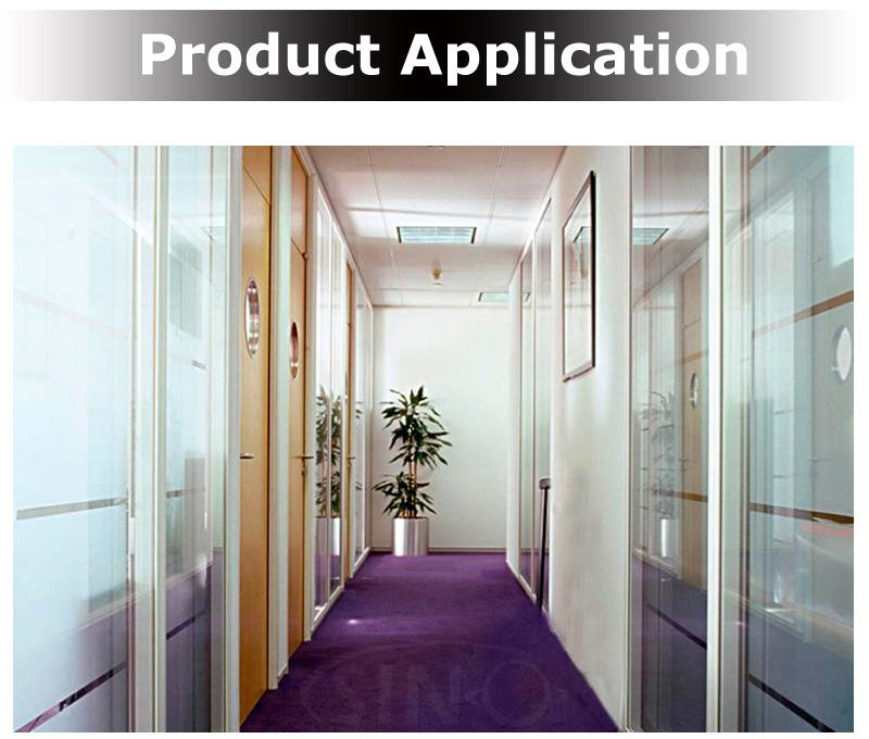 Premium 3D Réfléchissant Decorative Statique Verre Gravé Vinyle Fenêtre Confidentialité Film