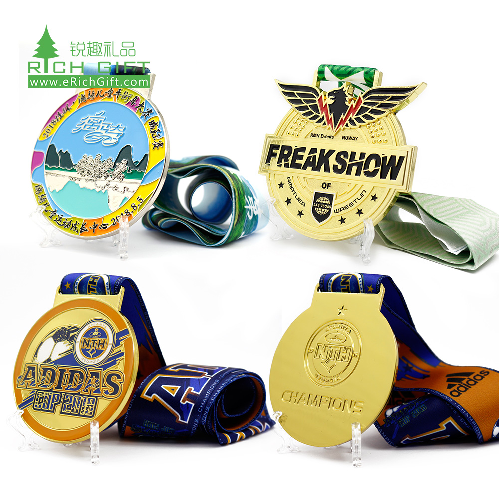 Wholesale cheap custom design your own logo colorful metal zinc alloy soft enamel fiesta carnival medals