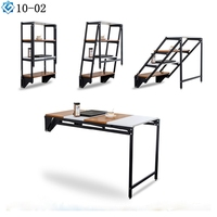 furniture hardware shelf support 2 in 1 dining table turns into wall shelf convertible mechanism frame with leg