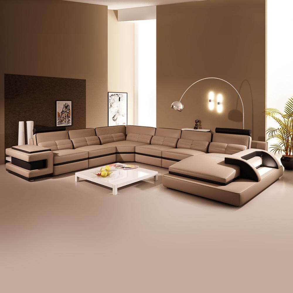 New Design Genuine Leather Corner Sofas
