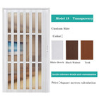 Factory direct Living Room Divider Glass PVC Accordion Doors Fast Delivery