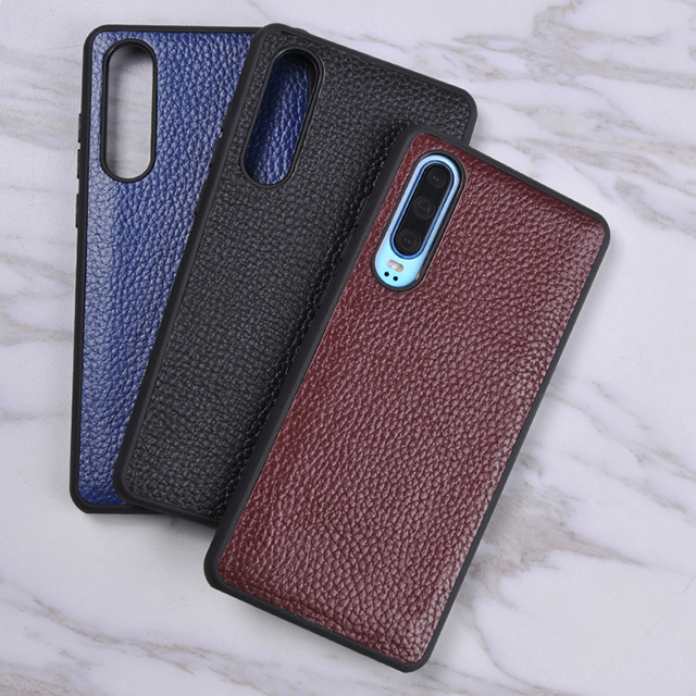 Acceptable customization for Huawei P30 P9 series leather series lychee wholesale phone case