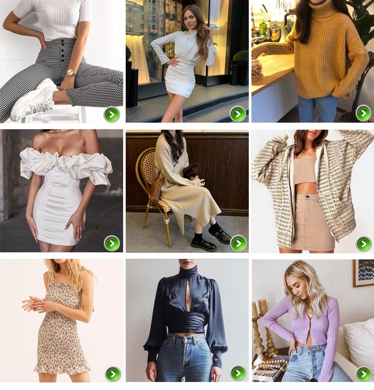 Toptan Moda Kore Elbise Bayanlar Zarif Slim Fit Örgü Midi Elbiseler