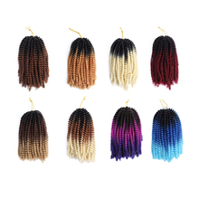 Belleshow 8 'vente en gros crochet tresse fibers ressort torsion bouclés printemps boucle cheveux crochet tresse printemps torsion cheveux