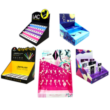 Custom Winkel Tafel <span class=keywords><strong>Display</strong></span> Box Cosmetische Kartonnen Pdq Make-Up Teller <span class=keywords><strong>Display</strong></span> <span class=keywords><strong>Stand</strong></span>
