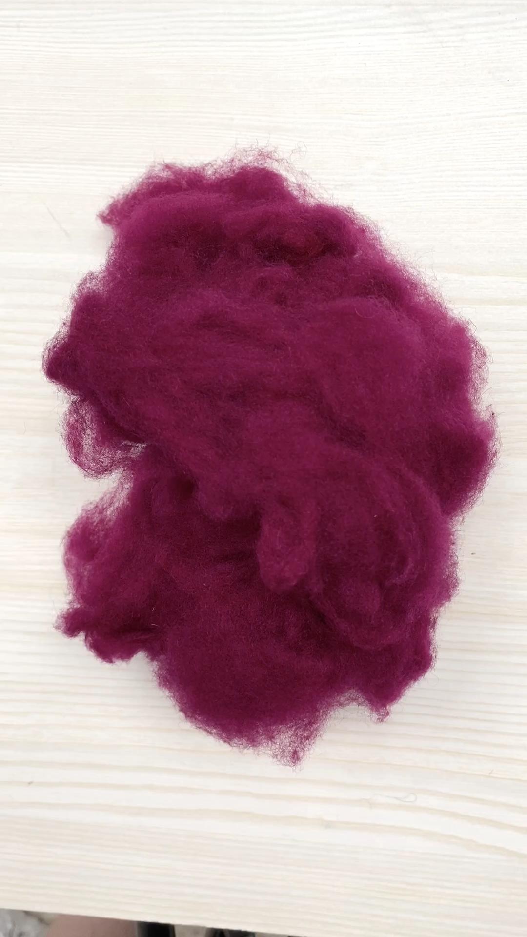 100% yıkanmış koyun yünü çin koyun kaşmir yün 22mic boyalı renkler ücretsiz örnek