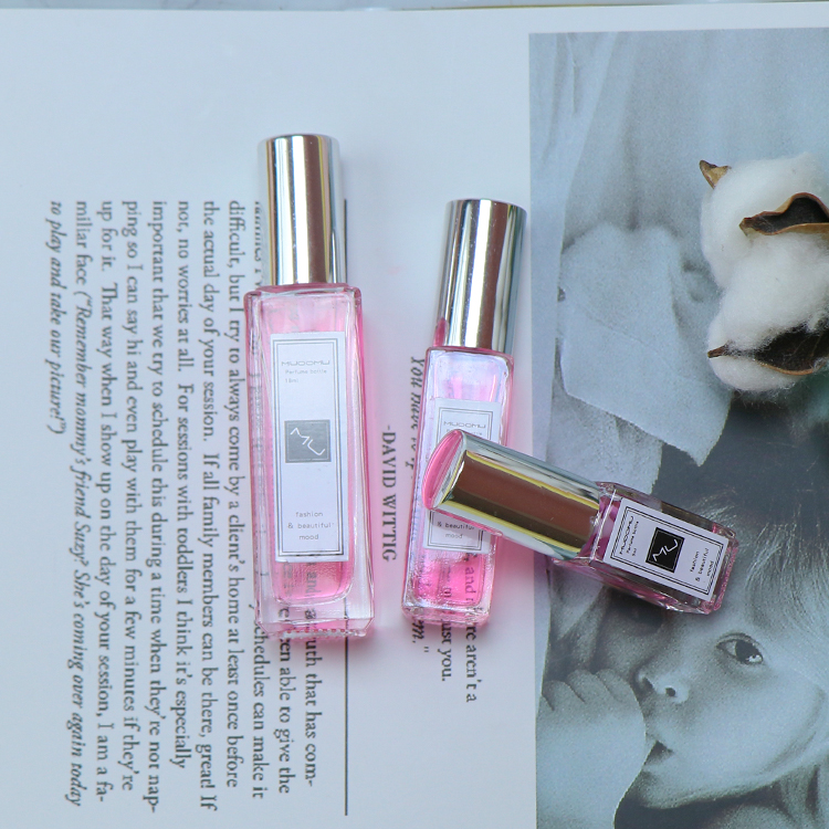 STOCK NOW! 5ml 10ml 18ml Clear Square Spray Glass Perfume Bottle