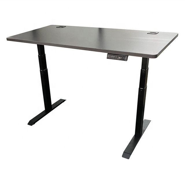 Smart office sit stand desk with anti-collision motorized adjustable height table legs