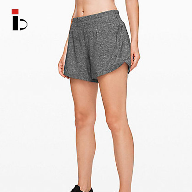 Custom wholesale sexy rapid dry fit confortable women grey sports shorts