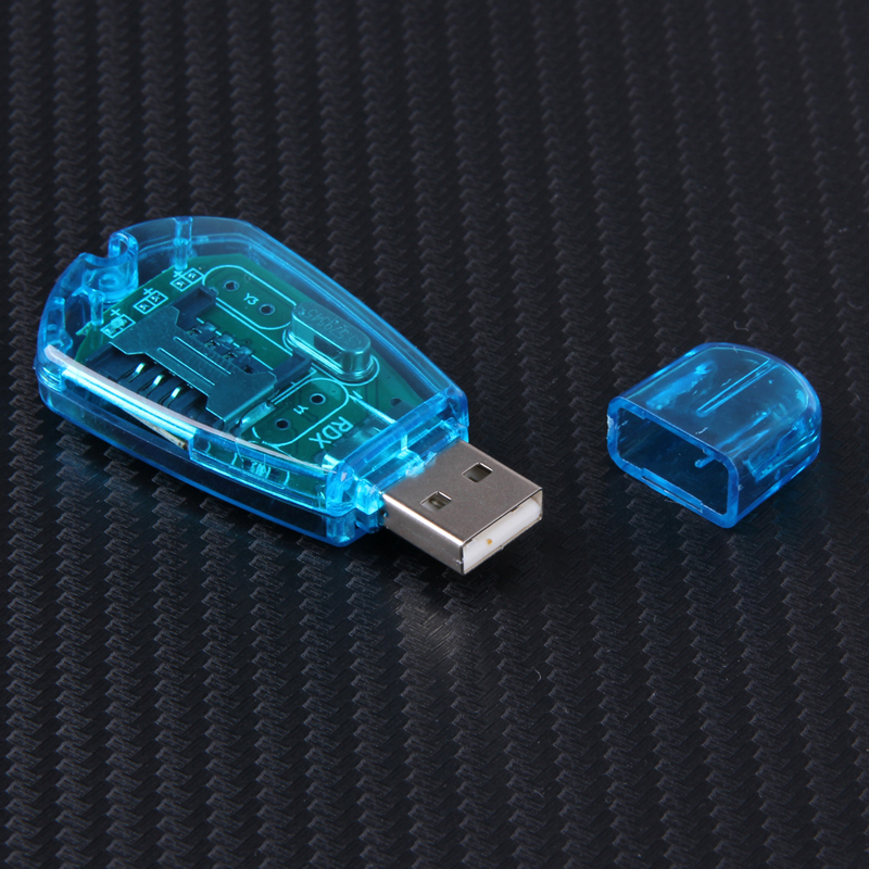 Micro USB 2,0 SIM Card Reader Sim Karte Simkarte Backup USB Reader für Windows 98, 2000, XP, vista 32bits, Windows 7