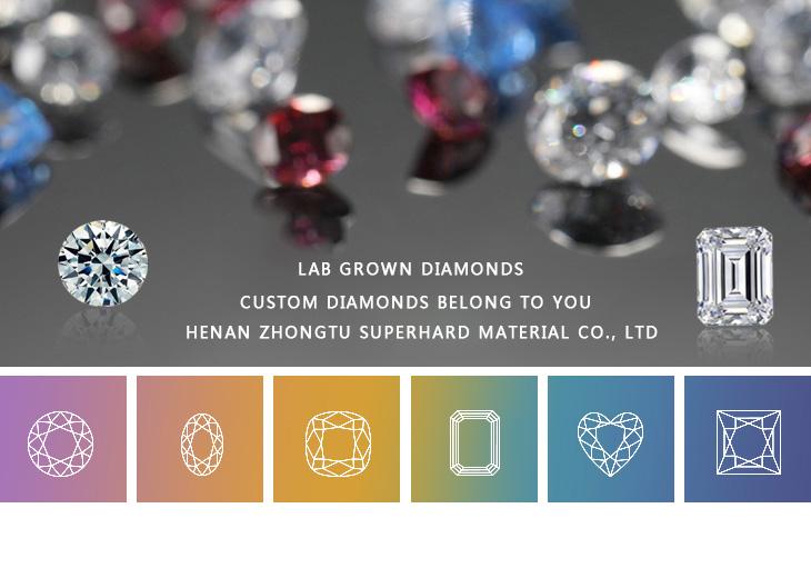 ZT Lab grown synthetische losse diamant HPHT 0.01 5 carat DEFGH VVS om SI duidelijkheid 3EX FABRIEK direct verzonden