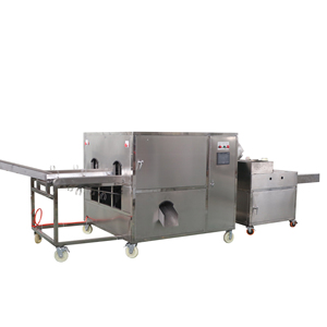 Onion peeling-root cutting-circle slicing machine