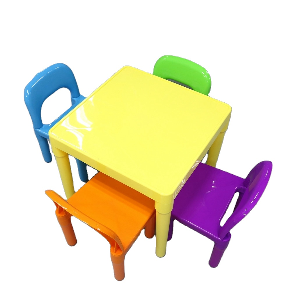 - Colourful Children's Folding Table Chair Bpa Free Plastic Children