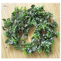 New Product Artificial Grapevine Eucalyptus Wreath for Wedding Garland