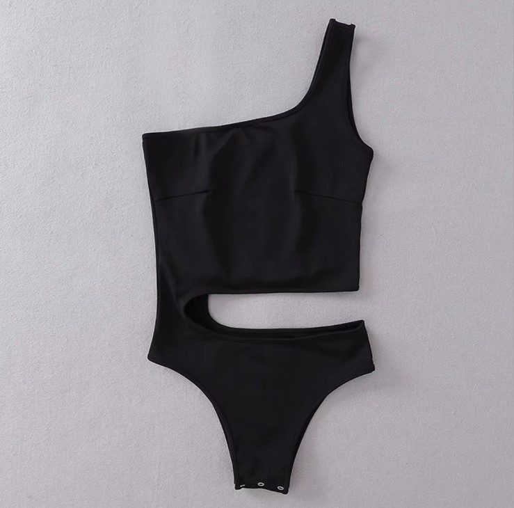 custom logo backless basic ladies transparent bodysuit
