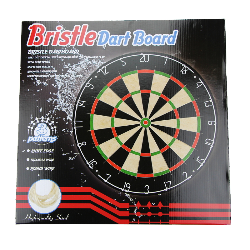 China professional Bristle Dartboard Factory Standard Sisal Dart boards with 6pcs steel darts