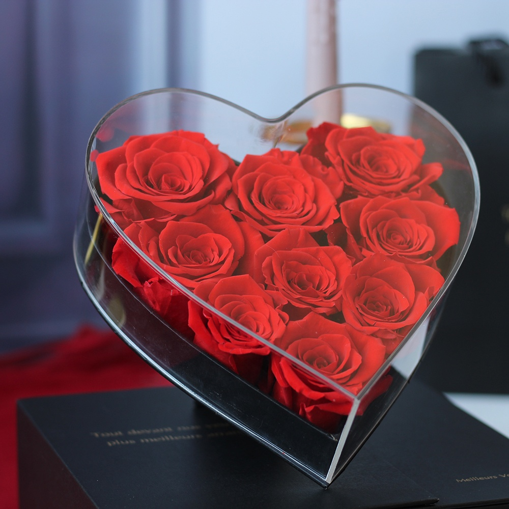Latest Style Saint Girls <strong>Gift</strong> Best <strong>Valentine's</strong> <strong>Day</strong> Present <strong>Gifts</strong> Red Forever Flower Rose Heart Shape Preserved Rose <strong>Gift</strong> Box