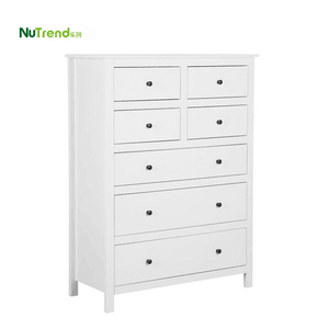 White Wooden simple Dresser 7 Chest of Drawers design