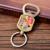 New product ideas factory high quality 3D animal shape metal keychain cute animal logo stuffed bottle opener key chains