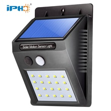 20 Leds Outdoor IP65 Wasserdichte Solar Powered Motion Sensor Led Solar Wandleuchte