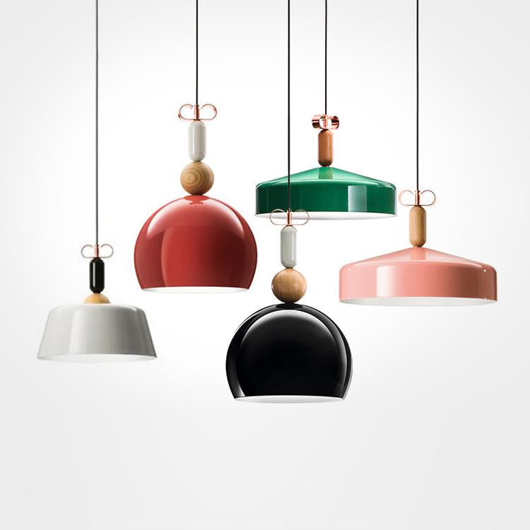 Nordic Style 40W Metal Cover Iron Base Chandelier Modern LED Pendant Light