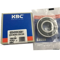 High quality Korea kbc ball bearing 6204 6204DD with rubber seal