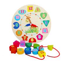 Монтессори Деревянные игрушки для малышей, Погодный сезон, календарь, часы, время, познавательные головоломки, дошкольные образовательные ...(Китай)