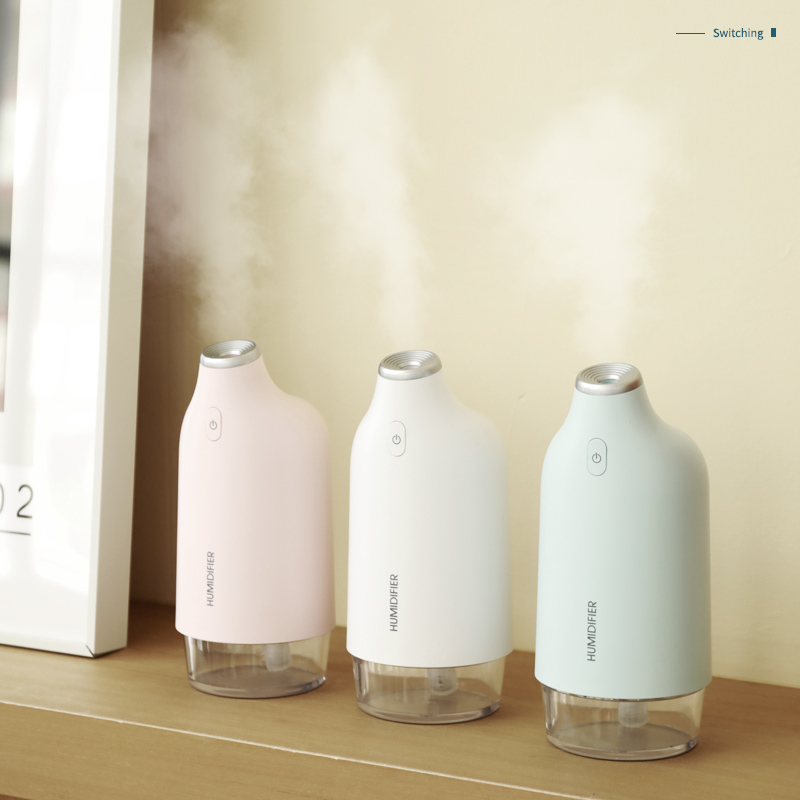 New Suitable for home baby use mini USB air cool mist <strong>portable</strong> <strong>humidifier</strong> with ambient light