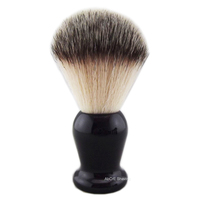 Classic Black Resin Handle Synthetic Nylon Hair Shaving Brush Grooming Tool
