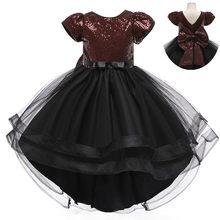 Летнее Детское Деловое платье для девочек, одежда с цветами, праздничное платье принцессы на день рождения, одежда для девочек 14 лет(Китай)