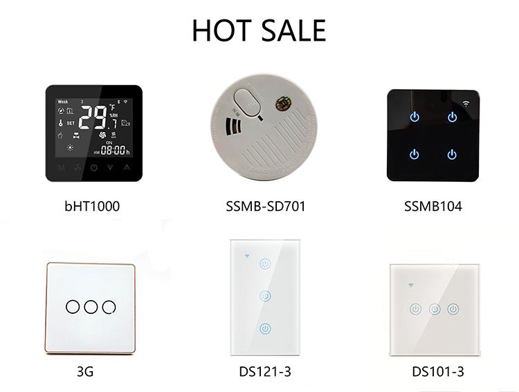 Nous standard 3gang intelligent wifi mur commutateur de lumière tactile en verre pour la maison intelligente