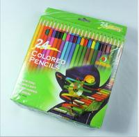 High quality For Kid 12 color wooden pencil custom color pencil set with box color pencil
