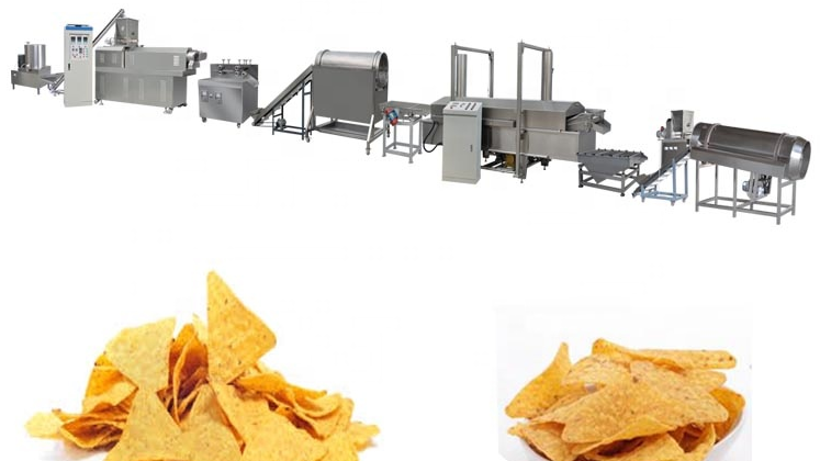 Hot Selling Doritos Chips Snack Manufacture Line Machinery Tortilla Chips Food Manufacturing Machines Equipment
