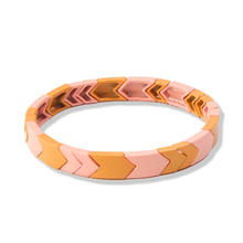 Flatfoosie 2019, эмалированный браслет дружбы, браслеты для женщин, Homme, модные ювелирные изделия, окрашенные эластичные бразильские женские аксес...(Китай)