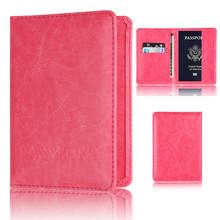 Защитный чехол для паспорта Aelicy Transer унисекс, мягкий кошелек для визиток, однотонный Ретро Чехол для паспорта 1118(Китай)