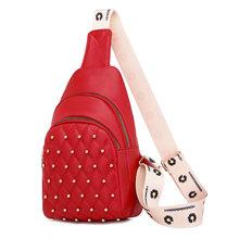 Toposhine новая нагрудная сумка с заклепками поясная сумка для женщин поясная сумка 2020 новый тренд нагрудная сумка Сумки из искусственной кожи ...(Китай)