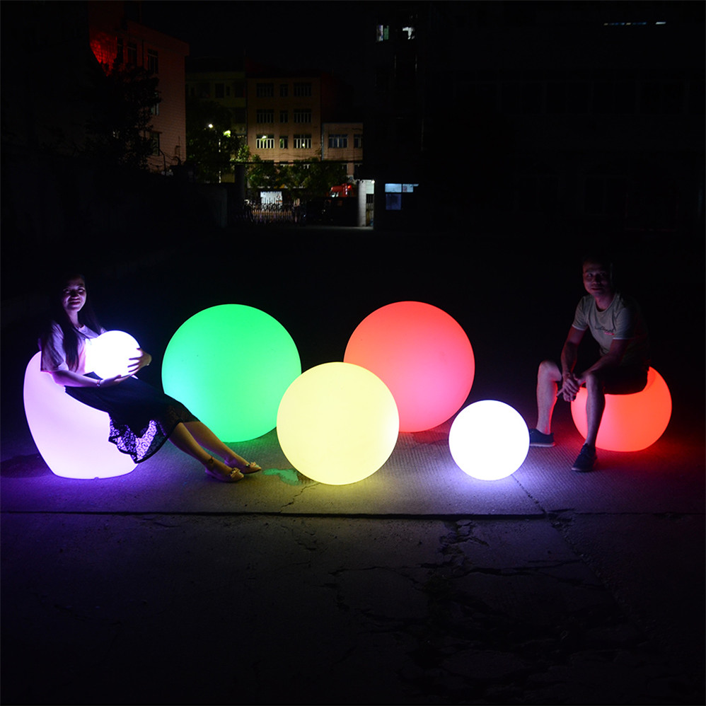 Any Color Led Sphere Light/Artistic Led Glow Swimming Pool Ball/Colorful Floating Led Ball Light Outdoor