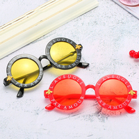 SKYWAY Korean Style Retro Round Frame Round Letters Little Bee Personality Children'S Sunglasses Fashion Kid Sunglasses